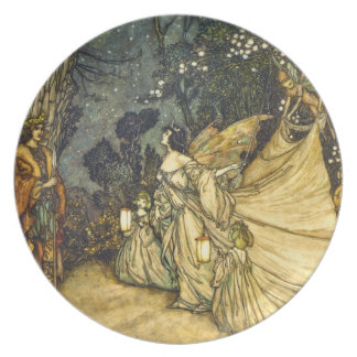 Fairies Wedding PlateTitania and Oberon Dinner Plate