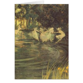 Fairies Whirl by Arthur Black, Vintage Fairy Dance Card