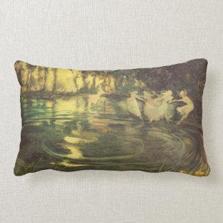Fairies Whirl by Arthur Black, Vintage Fairy Dance Lumbar Pillow