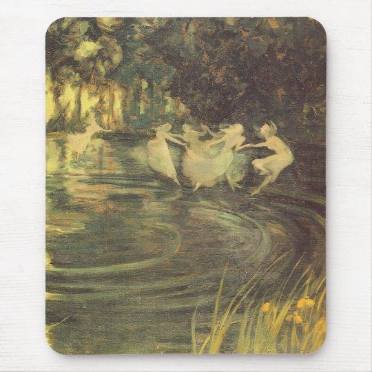 Fairies Whirl by Arthur Black, Vintage Fairy Dance Mouse Pad