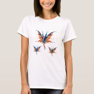 Fairies Wings Magic Women's Basic T-Shirt, White T-Shirt