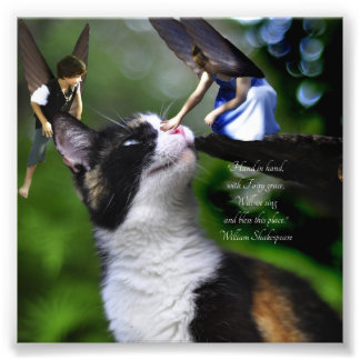 Fairies with Cat William Shakespeare Quote Print Photo Print