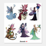 Fairies with Dragons Stickers by Molly Harrison
