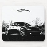 Fairlady 350Z with Black Brush Stroke Mouse Pad