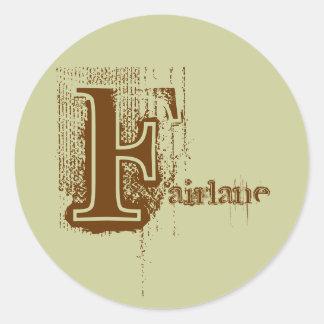 Fairlane sticker