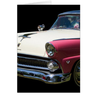 fairlane white purple chrome classic car stationery note card