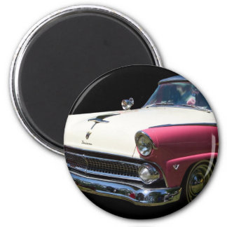fairlane white purple chrome classic car magnet
