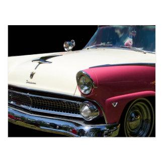 fairlane white purple chrome classic car postcard