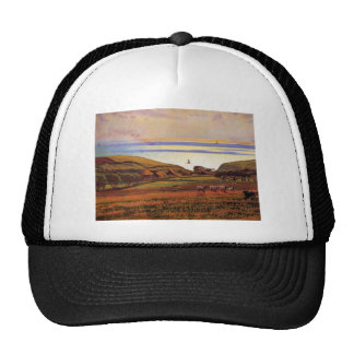Fairlight Downs, Sunlight on Sea by William Hunt Trucker Hat