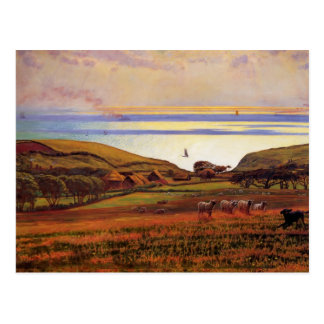 Fairlight Downs, Sunlight on Sea by William Hunt Post Card