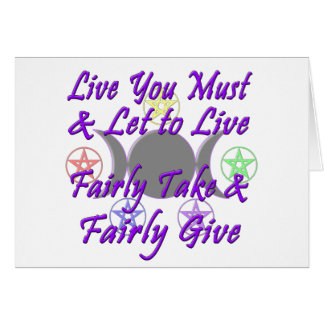 Fairly Take & Fairly Give Greeting Cards