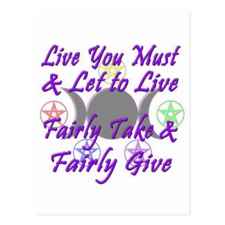 Fairly Take & Fairly Give Postcard