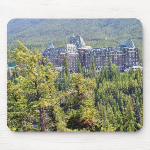 Fairmont Banff Springs Hotel In Banff Canada Mouse Pad