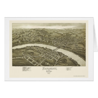 Fairmont, WV Panoramic Map - 1897 Card