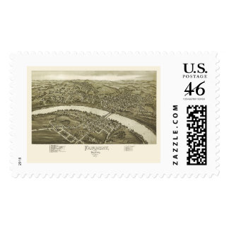 Fairmont, WV Panoramic Map - 1897 Postage Stamps