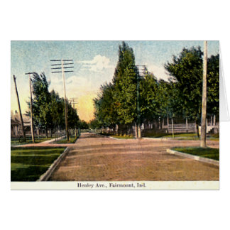Fairmount, avenida 1910 de Indiana Henley Tarjeta De Felicitación