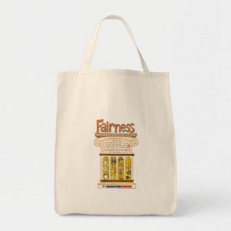 Fairness Pillar Grocery Tote Bag