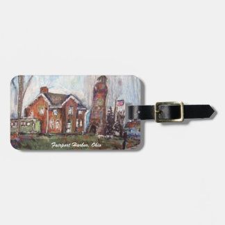 Fairport Harbor, OH Painting on Luggage Tag