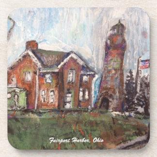 Fairport Harbor, Ohio Painting on Coaster Set