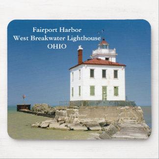 Fairport Harbor West Breakwater Light Mousepad