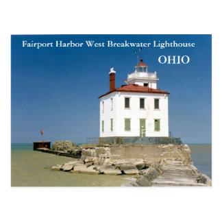 Fairport Harbor West Breakwater Lighthouse Postcard