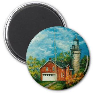 Fairport Lighthouse Musium 1997 2 Inch Round Magnet
