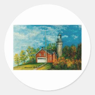 Fairport Lighthouse Musium 1997 Classic Round Sticker