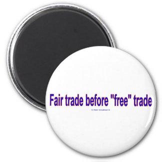 FairTradeBeforeFree Refrigerator Magnets