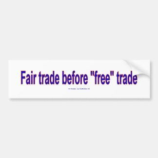 FairTradeBeforeFree Pegatina Para Auto