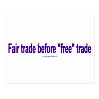 FairTradeBeforeFree Postcard