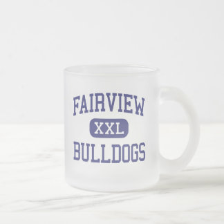 Fairview Bulldogs Middle School Dayton Ohio 10 Oz Frosted Glass Coffee Mug