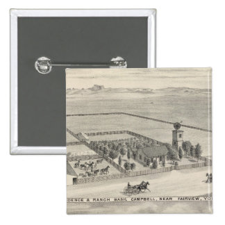 Fairview res, ranches pinback button
