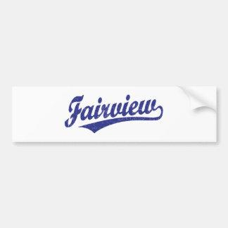 Fairview script logo in blue car bumper sticker