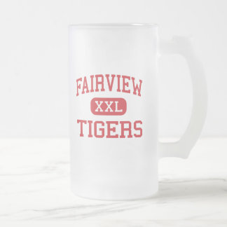 Fairview - Tigers - High - Fairview Pennsylvania 16 Oz Frosted Glass Beer Mug