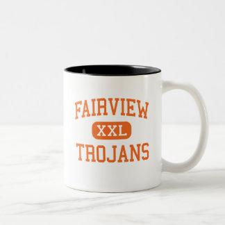 Fairview - Trojans - Junior - Memphis Tennessee Two-Tone Coffee Mug