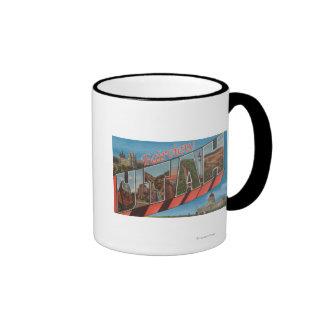 Fairview, Utah - Large Letter Scenes Ringer Coffee Mug