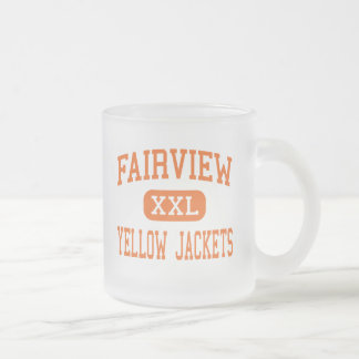 Fairview - Yellow Jackets - High - Fairview 10 Oz Frosted Glass Coffee Mug