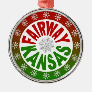 Fairway Kansas red green ornament