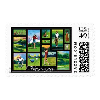 Fairway Postage Stamp