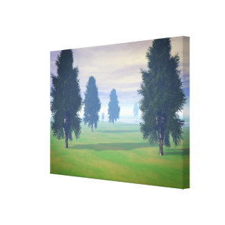 Fairway To Seven Stretched Canvas Print