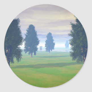 Fairway To Seven Classic Round Sticker