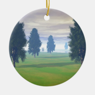 Fairway To Seven Double-Sided Ceramic Round Christmas Ornament