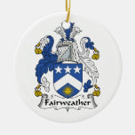 Fairweather Family Crest Christmas Ornament