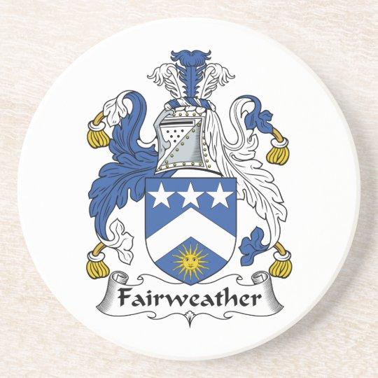 Fairweather Family Crest Drink Coaster