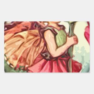 Fairy 1 rectangular sticker
