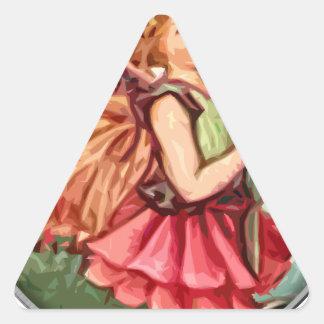Fairy 1 triangle sticker