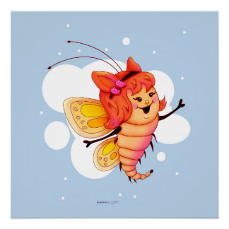 FAIRY 1CUTE BUTTERFLY PERFECT POSTER