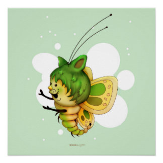 FAIRY 2 CUTE BUTTERFLY PERFECT POSTER