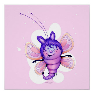 FAIRY 3 CUTE BUTTERFLY PERFECT POSTER