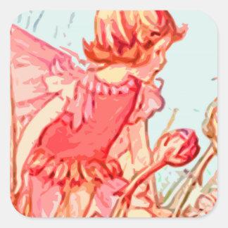 fairy 3 square sticker